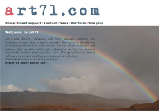 art71.com screen shot in 2010