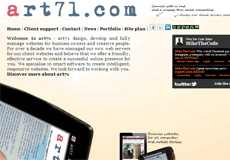 art71.com screen shot in 2011